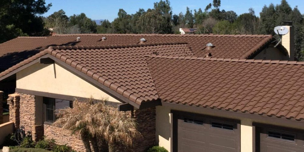 Beautiful Concrete Tile Roof Restoration Coatings