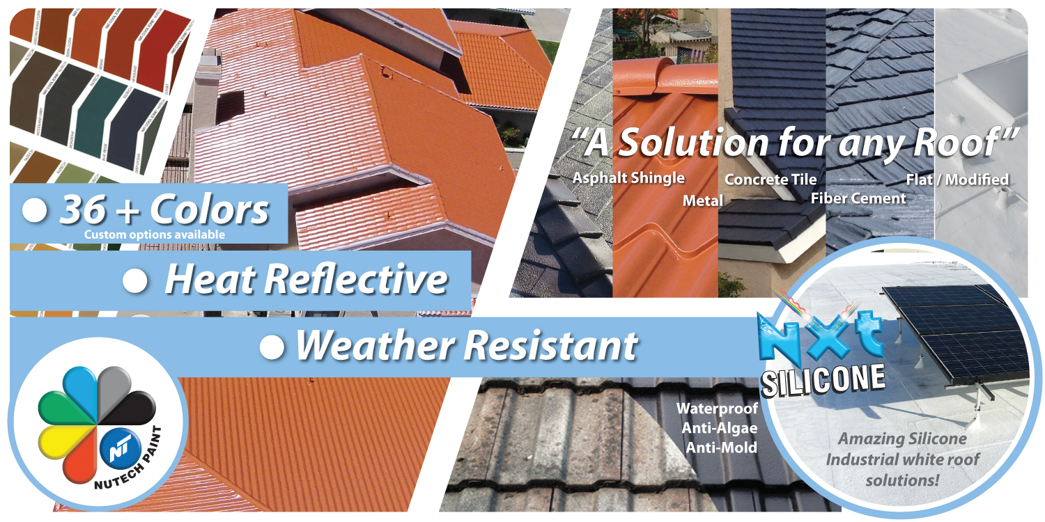 Nutech Paints CA⋆ Cool Roof Paint & Protective Coatings